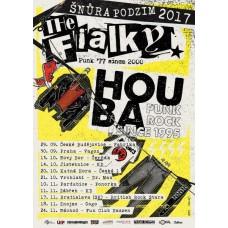 Samolepka A6 turné ŠŇŮRA PODZIM 2017 Houba / The Fialky