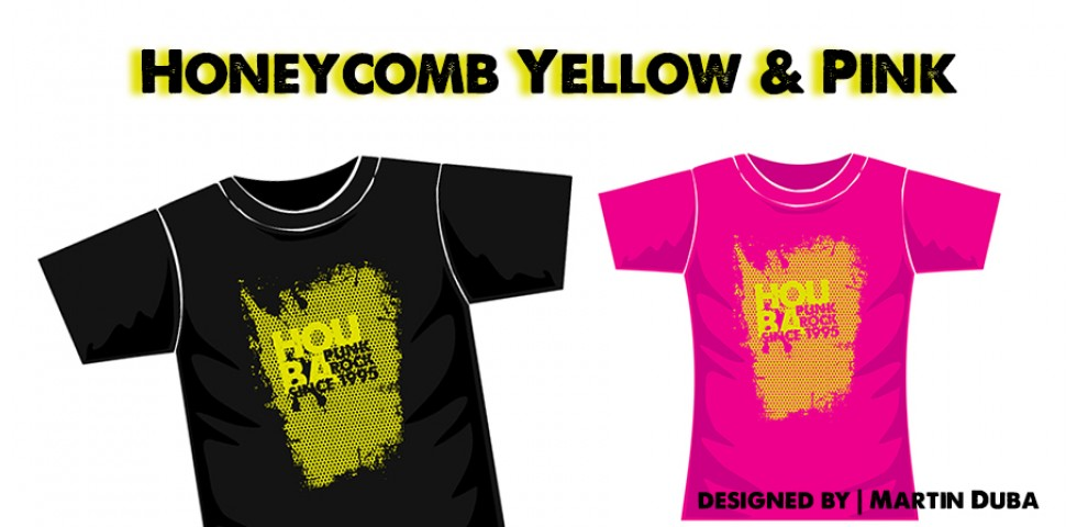 HONEYCOMB YELLOW & PINK
