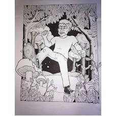 Originál kresba BE COOL HATE HOUBA by Adam Václav